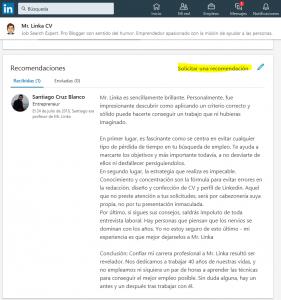 solicitar recomendaciones linkedin