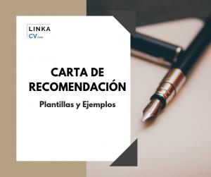 Carta de Recomendación ejemplos