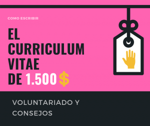 Curriculum vitae voluntariado