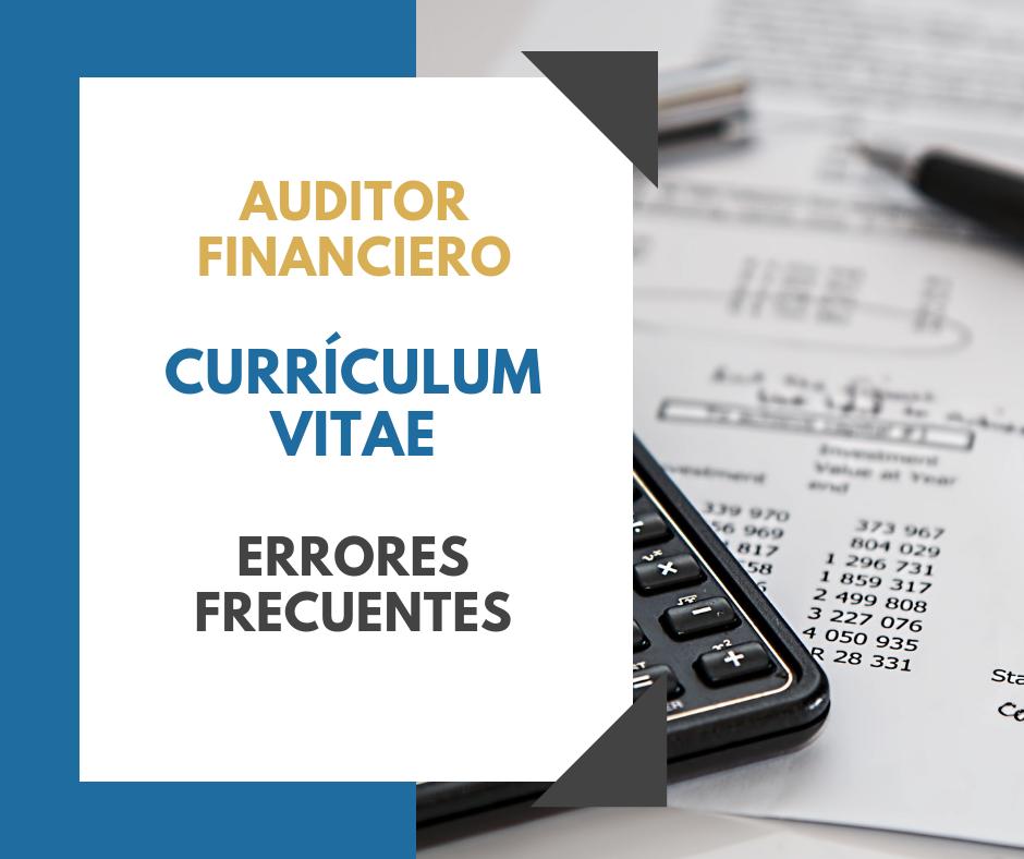 Auditor Financiero Currículum Vitae