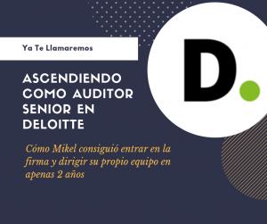 Mikel Bravo auditor Senior Deloitte