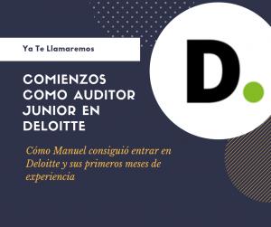 comienzo como auditor junior Manuel Merino