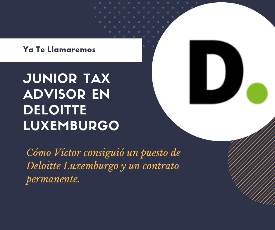 Junior Tax Advisor Deloitte