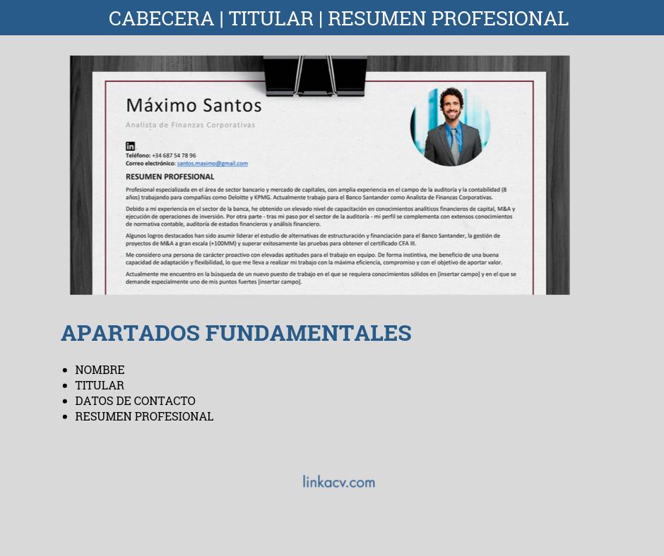 Resumen Profesional CV