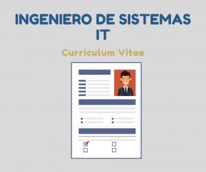 Curriculum Vitae Ingeniero de sistemas IT